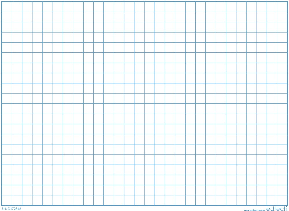 Inspirational Classrooms 3103101 X Y Axis Grid Write and Wipe Board