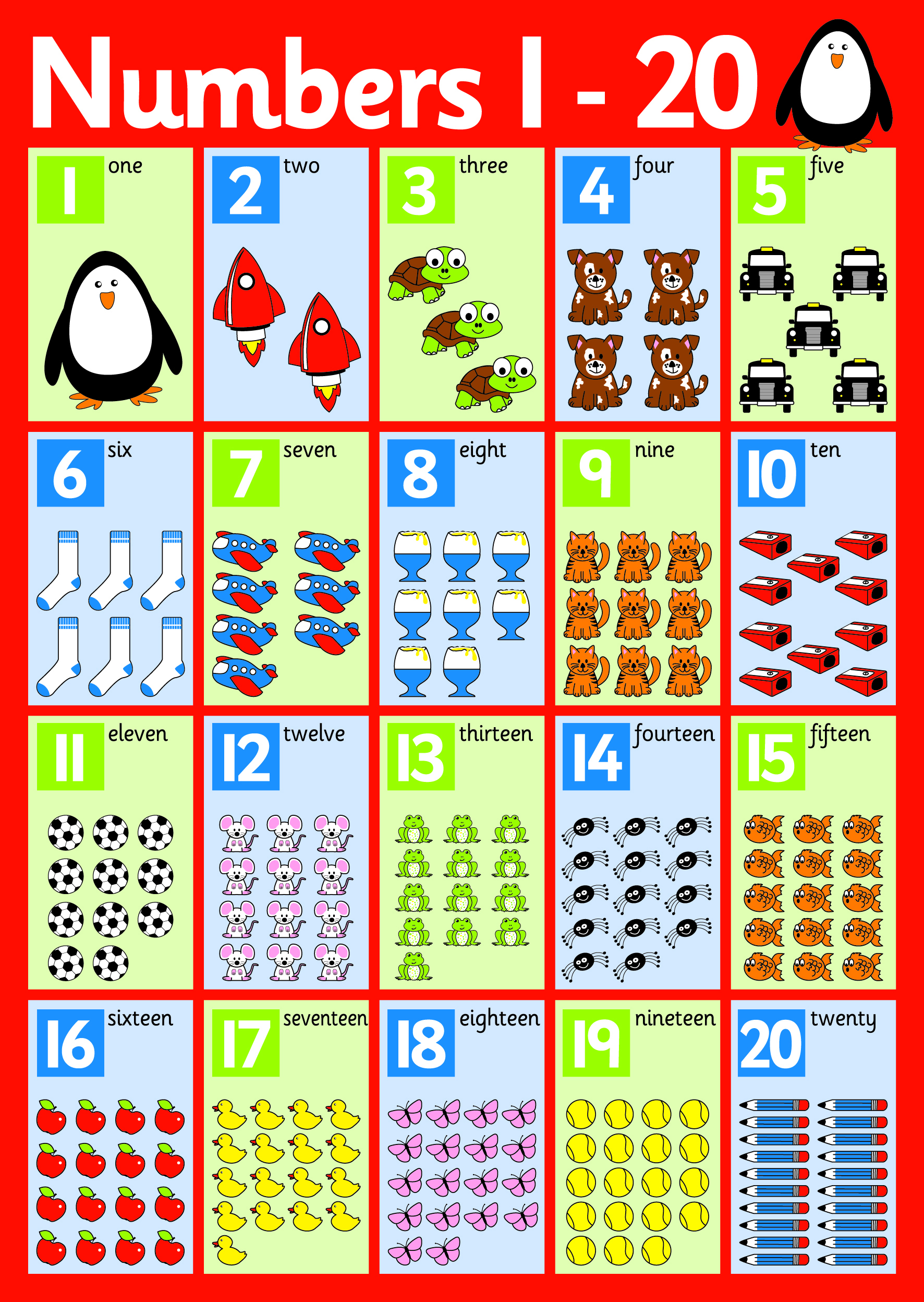 This is a picture of Clever Printable Number Line 1-20