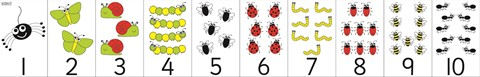 Number Bug Counting Line 1-10