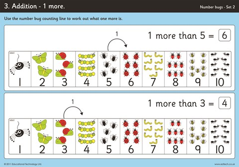 Number Bug Counting Line Workcards
