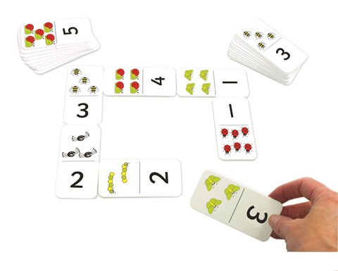 Numbers and Bugs Dominoes