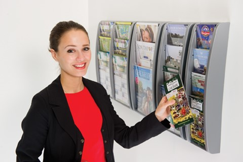 Wall Mounted Plastic Leaflet Dispensers