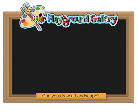 Playground Gallery Chalkboards - Set of 4