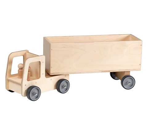 Truck With Box Trailer