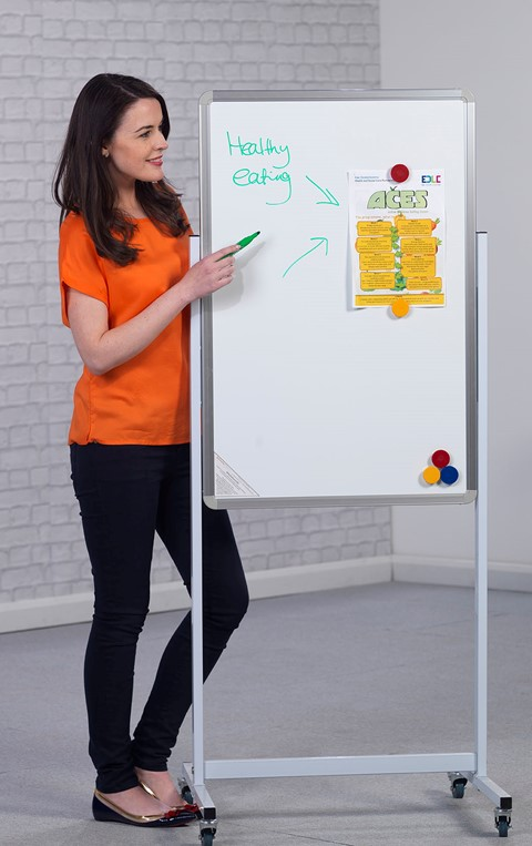 Non-Magnetic Mobile Writing Board Portrait