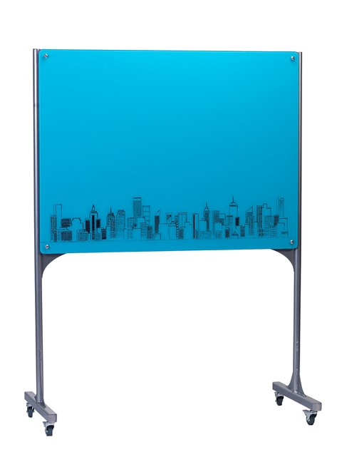Customised Mobile Magnetic Glass Writing Board