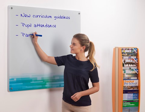 Customised Wall Mounted Magnetic Glass Writing Board