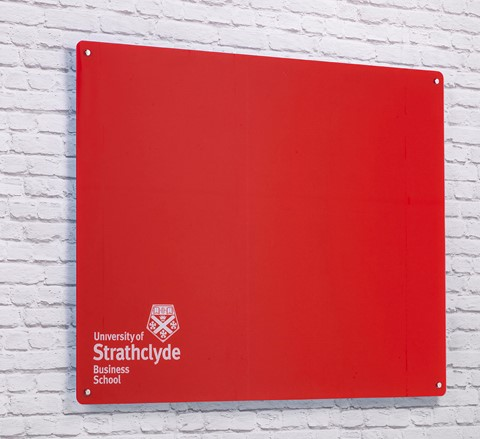 Wall Mounted Magnetic Glass Writing Board with Logo