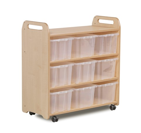 Mobile Shelf with Back