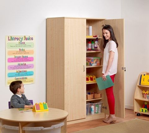 Lockable Tall Storage Cupboard