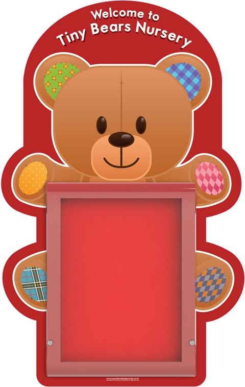 Red Teddy Bear Sign